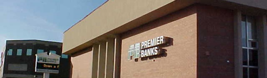 retail remodel work complete for Premier Bank-Bloomington by APPRO Development