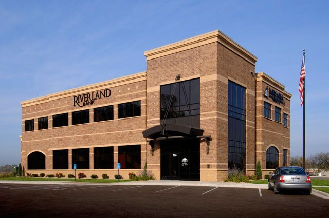 2-story bank building for Riverland Bank-Jordan-1 by APPRO Development