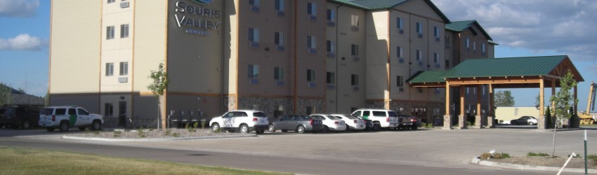 New Hotel building for Souris Valley Suites by APPRO Development in Minot ND