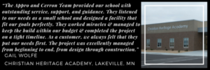 Appro and Cerron Testimonial - Christian Heritage Academy, Lakeville, MN