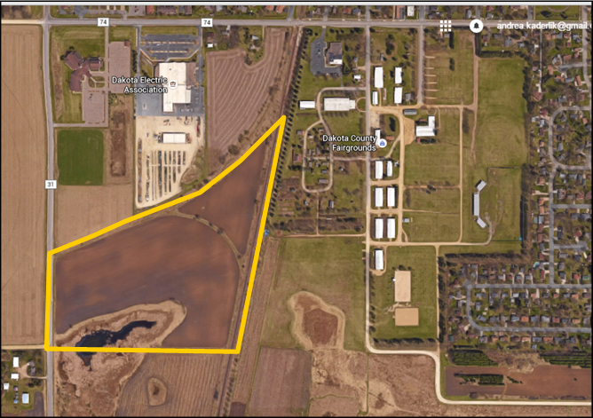 Residential Development Land is now available just off of Denmark Avenue in Farmington, MN. This site is comprised of 3 parcels and includes approximately 41.1 acres. This property is located south of St. Michael's Church and is zoned R3-Medium Residential, offering a great development opportunity for a residential site in this growing Dakota County community.