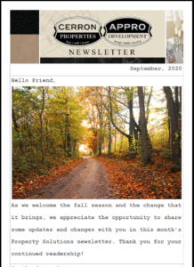 2020 Appro and Cerron Newsletter