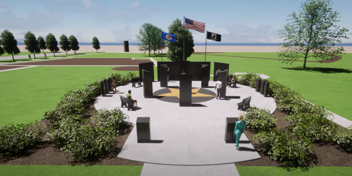 New Prague Veterans Memorial Rendering